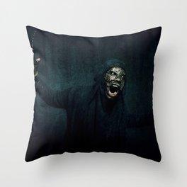 Boogie Horror: Mirror Mask - Attack! Throw Pillow