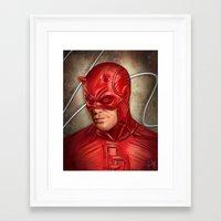 daredevil Framed Art Prints featuring Daredevil by Vanessa Seixas