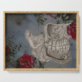 Skeleton and Roses Serving Tray