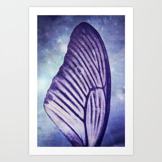 Tears grow Wings Art Print