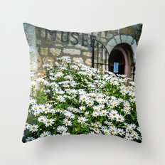 Museum & wild flowers - France Throw Pillow