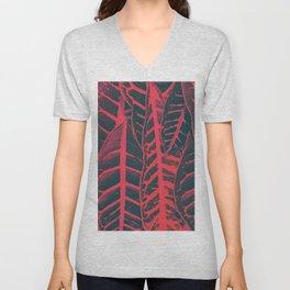 Red leaves Unisex V-Neck