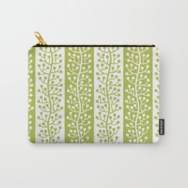 Mid Century Modern Berry Vine Stripes Chartreuse Carry-All Pouch