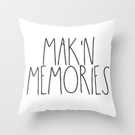 Mak'n Memories Throw Pillow