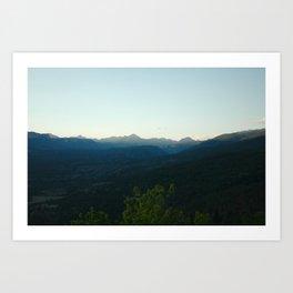 Mountain Haze - Durango, CO Art Print