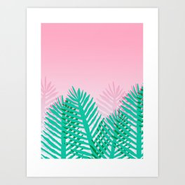 So Fine - palm springs desert plants indoor tropical oasis nature neon memphis throwback 1980s style Art Print