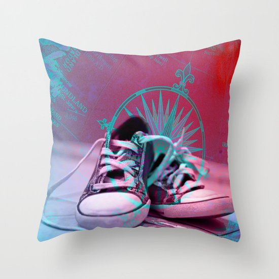 Well Travelled Throw Pillow