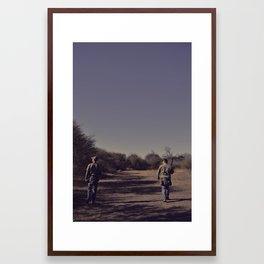 the hunters. Framed Art Print