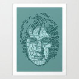 JohnLennon Calligram Art Print