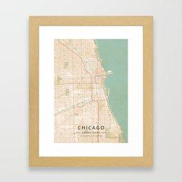 Chicago, United States - Vintage Map Framed Art Print