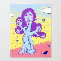 cassia beck Canvas Prints featuring BECK by Glorifiedchimp