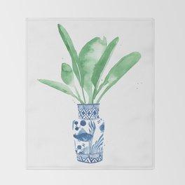 Ginger Jar + Bird of Paradise Throw Blanket
