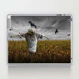 Scarecrow with Black Crows over a Cornfield Laptop & iPad Skin