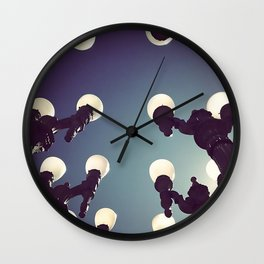 Lamp Posts I Wall Clock