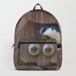 Tree Swallow in Bird House Backpack