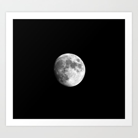 Waxing Gibbous Moon Art Print