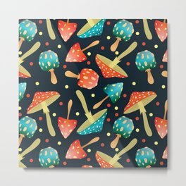 Bright mushrooms Metal Print