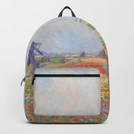 "Claude Monet ""Tulip Fields near The Hague"" Backpack"
