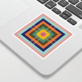 Fine Lines on Retro Colored Squares Sticker
