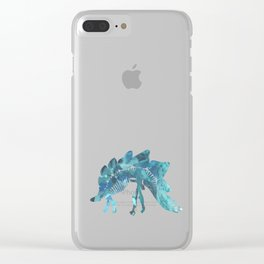 Stegosaurus Clear iPhone Case