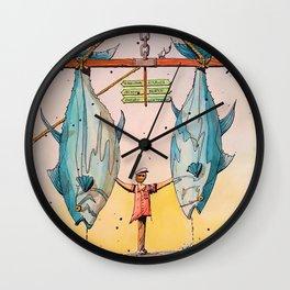 Biloxi Blue Fin Tuna Fishing Wall Clock