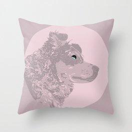 Pink Pup Throw Pillow