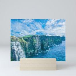 Where the Mountains and the Ocean Meet Mini Art Print