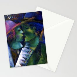 Green Lovers by Marc Chagall Stationery Cards