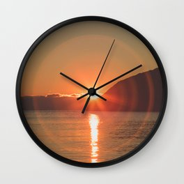 Sun Rings Wall Clock