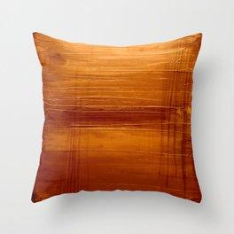 Golden Orange Throw Pillow