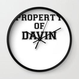 Property of DAVIN Wall Clock