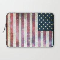 patriotic Laptop Sleeves featuring PATRIOTIC by alfboc