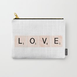 LOVE Scrabble Tiles Horizontal Carry-All Pouch