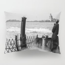 Liberty from the back of The Boat Pillow Sham