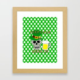 Keep Calm Drink On - St Patrick Day Framed Art Print