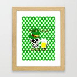 Keep Calm Drink On - St Patrick Day Framed Art Print