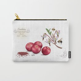 Cranberry and Pollinators Carry-All Pouch