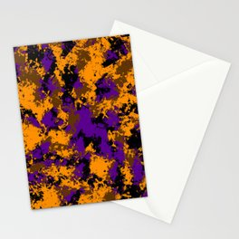 Camping, Purple Night Sky Through the Trees; Fluid Abstract 59 Stationery Cards