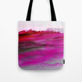 Purple Clouds Red Mountain Tote Bag