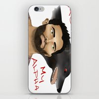 derek hale iPhone & iPod Skins featuring Derek Hale - Oh Alpha, my Alpha by LittleMagicFox
