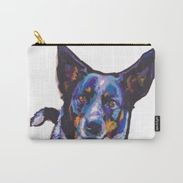 Australian Cattle Dog Portrait blue heeler colorful Pop Art Painting by LEA Carry-All Pouch