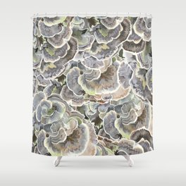 Forest Floor: Turkey Tail Fungi Shower Curtain