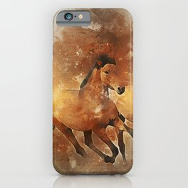 Horses Running Animal iPhone Case