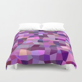 Purplish tile mosaic Duvet Cover