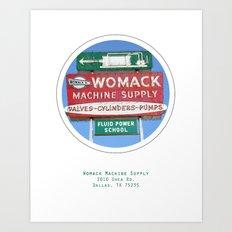 Womack Machine Supply Poster Art Print
