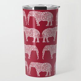 Alabama bama crimson tide elephant state college university pattern footabll Travel Mug