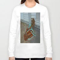 anchors Long Sleeve T-shirts featuring Rusty anchors by Ricarda Balistreri