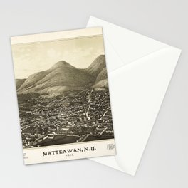 Aerial View of Matteawan, New York (1886) Stationery Cards
