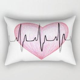 Heart Beat Rectangular Pillow