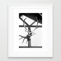 antlers Framed Art Prints featuring Antlers by Tiffany Dawn Smith